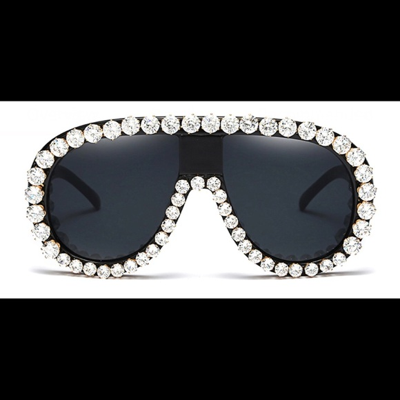 9ebdb5e289cc Bling Black Women Fashion Sunglasses